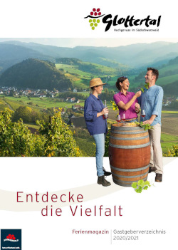 Südschwarzwald - Ferienmagazin und Gastgeberverzeichnis Glottertal