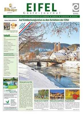 Ferienregion Eifel - Eifel Gäste-Journal – Auf Entdeckungsreise zu den Schätzen der Eifel