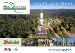 Harz - Bad Sachsa - Urlaubsmagazin und Gastgeberverzeichnis 2017