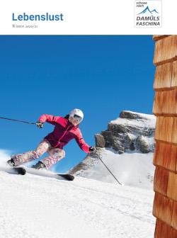 Vorarlberg - Damüls - Faschina: Winter- und Sommerinformation inkl. Unterkunftsverzeichnis