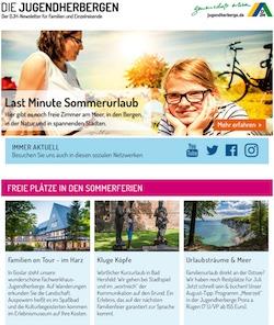 Deutschland - Familienurlaub in der Jugendherberge (Newsletter)