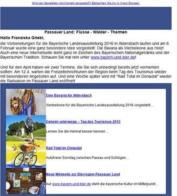 Niederbayern - Passauer Land - Newsletter