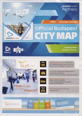 Ungarn - Budapest Stadtplan