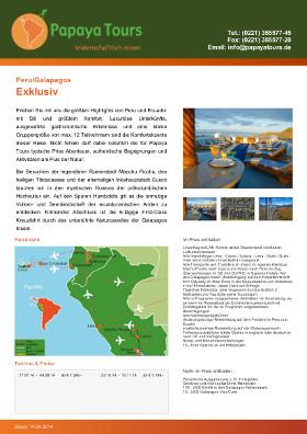 Reiseveranstalter - Peru/Galapagos - Exklusiv 2014 (pdf)