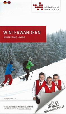 Region Hall-Wattens - Winterwanderkarte Tirol