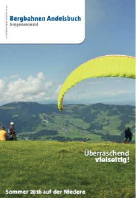Bregenzerwald - Bergbahnen Andelsbuch Sommer 2016