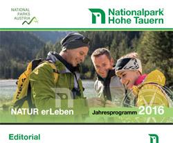 Osttirol - Nationalpark Hohe Tauern Jahresprogramm 2016