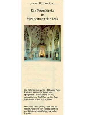 Schwäbische Alb - Die Peterskirche in Weilheim an der Teck (pdf)