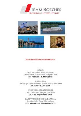 Reiseveranstalter - Team Boecher: Die besonderen Reisen 2018